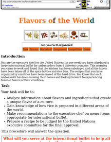 Flavors Of The World Lesson Plan