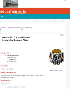 Heads Up for Headlines! Lesson Plan
