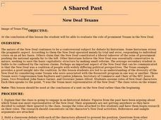 A Shared Past: New Deal Texans Lesson Plan