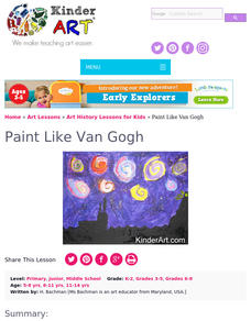 VAN GOGH'S PAINTING STYLE Lesson Plan