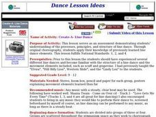 Create-A-Line Dance Lesson Plan