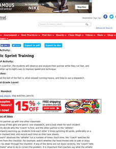 Olympic Sprint Training Lesson Plan
