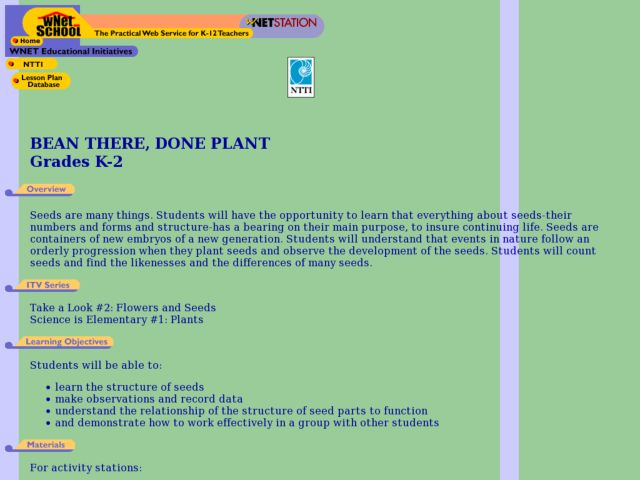 Bean There, Done Plant Lesson Plan
