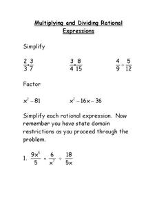 Adding and Subtracting Rational Expressions Lesson Plan