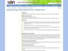 Have I Got A Story For You - Folklore of Utah Lesson Plan