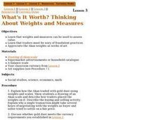 What's It Worth? Thinking About Weights and Measures Lesson Plan