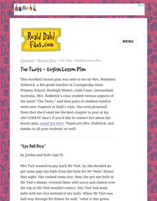 The Twits Lesson Plan