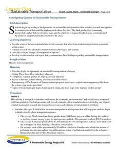Modes of Transportation Lesson Plans & Worksheets