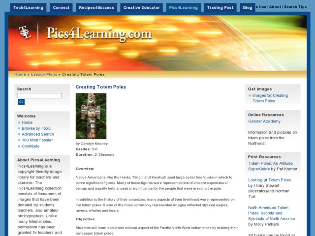 Creating Totem Poles Lesson Plan