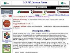 Card Sharks Basketball Passing Lesson Plan