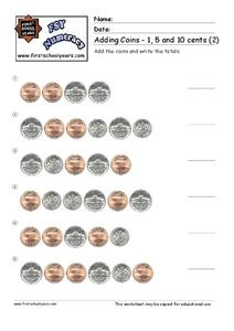 Adding Coins Worksheet