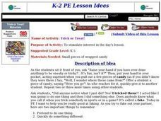 Trick or Treat! Lesson Plan