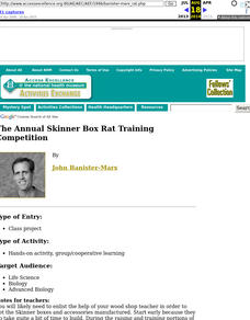 Annual Skinner Box Rat Training Competition Unit