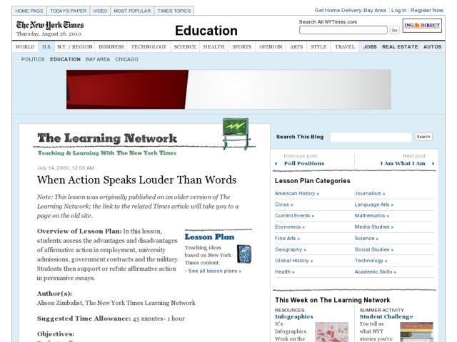 When Action Speaks Louder Than Words Lesson Plan