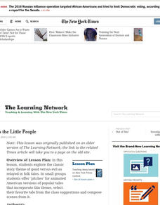Power to the Little People Lesson Plan