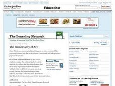 The Immortality of Art Lesson Plan