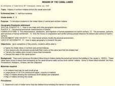 INDIANS OF THE CANAL LANDS Lesson Plan