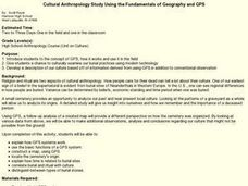 Cultural Anthropology Study Using the Fundamentals of Geography and GPS Lesson Plan
