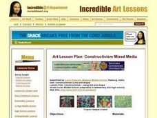 Constructivism (Line and shape) Lesson Plan