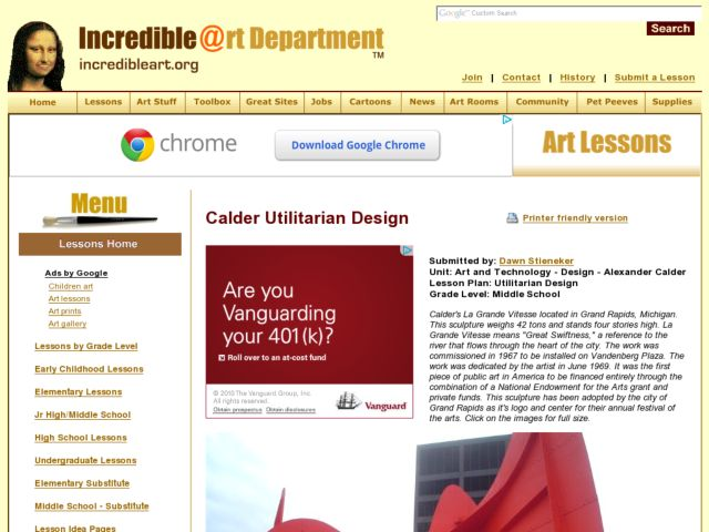 Art and technology design alexander calder lesson plan - Design and technology lesson plans ...