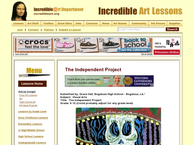The Independent Project Lesson Plan
