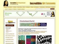 Psychedelic Checkerboard Op Art Lesson Plan