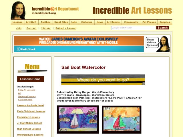 Sail Boat Painting - Watercolors Lesson Plan