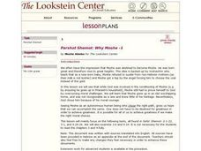 Parshat Shemot: Why Moshe -1 Lesson Plan