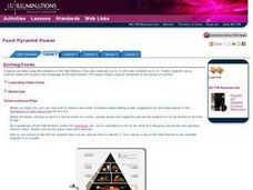 Food Pyramid Power Sorting Foods Lesson Plan