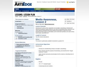 Media Awareness, Lesson 2 Worksheet