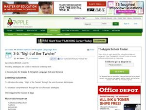"""Night of the Twister"" Lesson Plan"