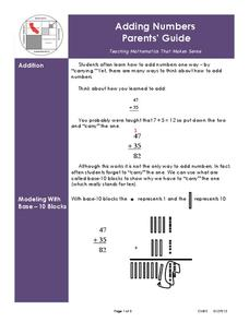 Mathematics Instruction Parent Guides