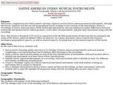 Native American Indian Musical Instruments Lesson Plan
