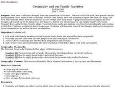 Geography and our Family Favorites Lesson Plan