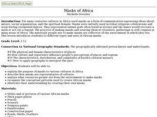 Masks of Africa Lesson Plan
