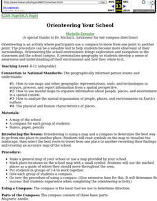 Orienteering Your School Lesson Plan