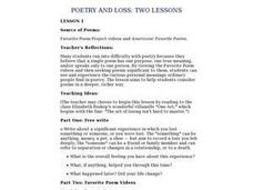 Poetry and Loss Lesson Plan