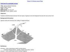 Igneous Rocks/Volcanoes Lesson Plan