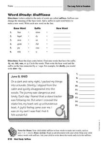 Adding Suffixes Worksheet