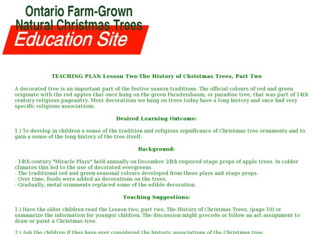 The History of Christmas Trees Lesson Plan