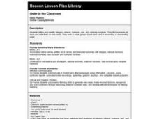 Order in the Classroom Lesson Plan