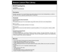 M&M Counting Fun Lesson Plan