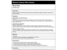 Money Sings Lesson Plan