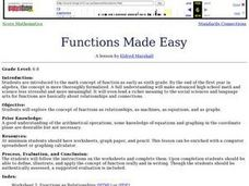 Functions Made Easy Lesson Plan