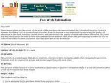 Fun With Estimation Lesson Plan