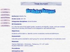 Vocabulary Stumpers Lesson Plan