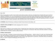 JUST SANDWICHES Lesson Plan
