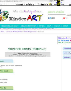 Fishy Yarn Printing Lesson Plan