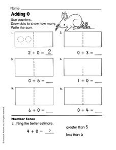 Adding Zero Worksheet