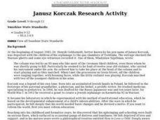 Janusz Korczak Research Activity Lesson Plan